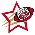 San Francisco 49ers Football Goal Star logo iron on sticker
