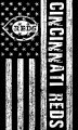 Cincinnati Reds Black And White American Flag logo iron on sticker