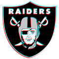 Phantom Oakland Raiders logo iron on sticker