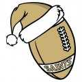New Orleans Saints Football Christmas hat logo iron on sticker