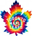Toronto Maple Leaves rainbow spiral tie-dye logo decal sticker