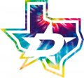 Dallas Stars rainbow spiral tie-dye logo decal sticker