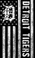 Detroit Tigers Black And White American Flag logo iron on sticker