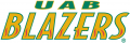 UAB Blazers 1996-2014 Wordmark Logo 03 iron on sticker