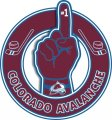 Number One Hand Colorado Avalanche logo iron on sticker
