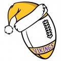 Minnesota Vikings Football Christmas hat logo iron on sticker