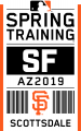 San Francisco Giants 2019 Event Logo 01 decal sticker