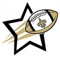New Orleans Saints Football Goal Star logo iron on sticker