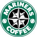 Seattle Mariners Starbucks Coffee Logo iron on sticker