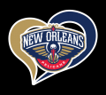 New Orleans Pelicans Heart Logo decal sticker