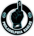 Number One Hand Philadelphia Eagles logo decal sticker