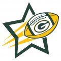 Green Bay Packers Football Goal Star logo iron on sticker