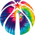 Washington Wizards rainbow spiral tie-dye logo iron on sticker