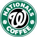 Washington Nationals Starbucks Coffee Logo iron on sticker