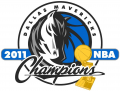 Dallas Mavericks 2010 11 Champion Logo iron on sticker