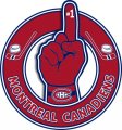 Number One Hand Montreal Canadiens logo iron on sticker