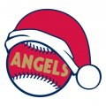 Los Angeles Angels of Anaheim Baseball Christmas hat logo decal sticker