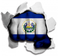 Fist EL Salvador Flag Logo decal sticker