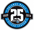 Orlando Magic 2013-2014 Anniversary Logo decal sticker