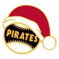 Pittsburgh Pirates Baseball Christmas hat logo decal sticker