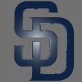 San Diego Padres Plastic Effect Logo iron on sticker