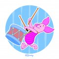 Disney Piglet Logo 18 decal sticker
