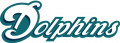 Miami Dolphins 1997-2012 Wordmark Logo 01 decal sticker