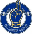 Number One Hand St. Louis Blues logo iron on sticker