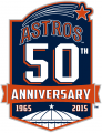 Houston Astros 2015 Anniversary Logo decal sticker