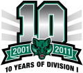 Binghamton Bearcats 2011 Anniversary Logo iron on sticker