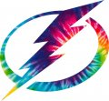 Tampa Bay Lightning rainbow spiral tie-dye logo decal sticker