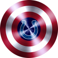 Captain American Shield With Indianapolis Colts Logo decal sticker