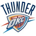 Oklahoma City Thunder Plastic Effect Logo decal sticker