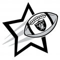 Oakland Raiders Football Goal Star logo iron on sticker
