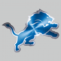 Detroit Lions Stainless steel logo iron on sticker