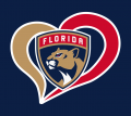 Florida Panthers Heart Logo decal sticker