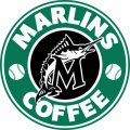 Miami Marlins Starbucks Coffee Logo iron on sticker