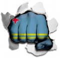 Fist Aruba Flag Logo decal sticker