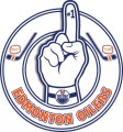 Number One Hand Edmonton Oilers logo iron on sticker