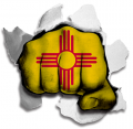 Fist New Mexico State Flag Logo decal sticker