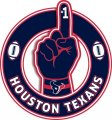 Number One Hand Houston Texans logo decal sticker
