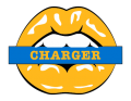 Los Angeles Chargers Lips Logo decal sticker