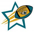 Jacksonville Jaguars Football Goal Star logo iron on sticker