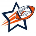 Denver Broncos Football Goal Star logo iron on sticker