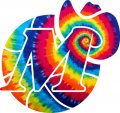 Dallas Mavericks rainbow spiral tie-dye logo iron on sticker