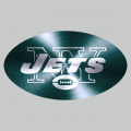 New York Jets Stainless steel logo iron on sticker