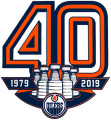 Edmonton Oilers 2018 19 Anniversary Logo decal sticker