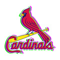 Phantom St. Louis Cardinals logo decal sticker