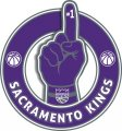 Number One Hand Sacramento Kings logo iron on sticker