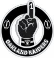 Number One Hand Oakland Raiders logo decal sticker
